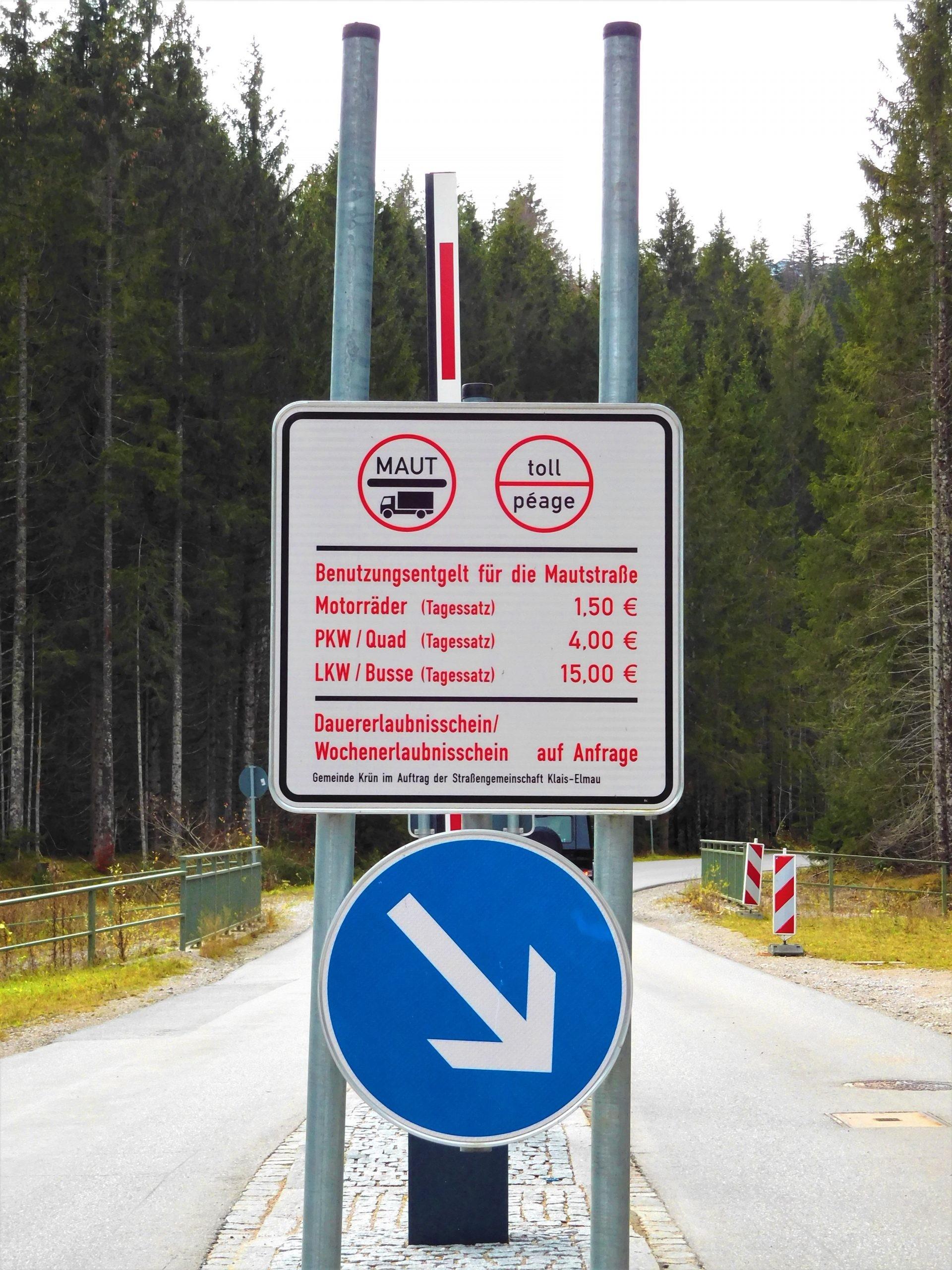 private Mautstraße nach Elmau